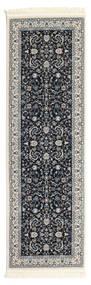 Nain Florentine - Tamno Plava Sag 80X250 Orijentalni Staza Za Hodnik  Tamnosiva/Svjetlosiva ( Turska)