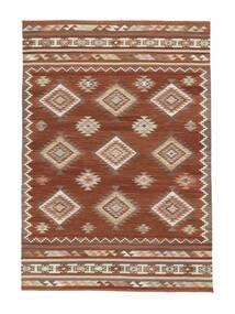 Ćilim Malatya Sag 190X290 Autentični  Moderni Ručno Tkani Tamnocrvena/Grimizno Crvena (Vuna, Indija)