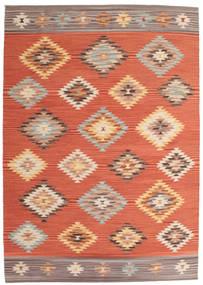 Ćilim Denizli Sag 160X230 Autentični  Moderni Ručno Tkani Narančasta/Grimizno Crvena (Vuna, Indija)