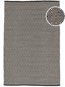 Diamond - Crna Sag 140X200 Autentični  Moderni Ručno Tkani Svjetlosiva/Tamnosiva (Pamuk, Indija)