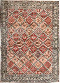 Nain Patine Sag 287X395 Autentični Orijentalni Ručno Uzlan Svjetlosmeđa/Svjetlosiva Veliki (Vuna/Svila, Perzija/Iran)