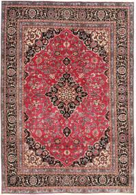 Mashad Patine Sag 195X278 Autentični Orijentalni Ručno Uzlan Tamnocrvena/Hrđavo Crvena (Vuna, Perzija/Iran)