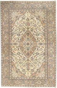 Keshan Patine Sag 190X296 Autentični Orijentalni Ručno Uzlan Svjetlosiva/Tamna Bež (Vuna, Perzija/Iran)