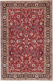 Mashad Patine Sag 197X300 Autentični Orijentalni Ručno Uzlan Tamnocrvena/Grimizno Crvena (Vuna, Perzija/Iran)