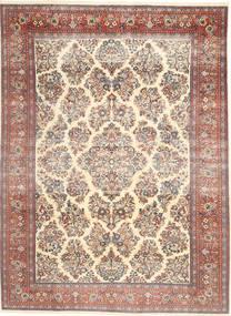 Sarough Patine Sag 200X280 Autentični Orijentalni Ručno Uzlan Bež/Tamnosmeđa (Vuna, Perzija/Iran)