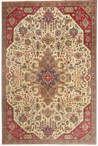 Tabriz Patine Sag 190X280 Autentični Orijentalni Ručno Uzlan Svjetlosmeđa/Tamna Bež (Vuna, Perzija/Iran)