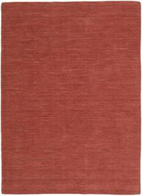 Ćilim Loom - Rust Sag 140X200 Autentični  Moderni Ručno Tkani Tamnocrvena (Vuna, Indija)
