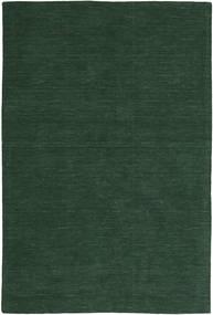 Ćilim Loom - Šumsko Zelena Sag 300X400 Autentični  Moderni Ručno Tkani Tamnozelena Veliki (Vuna, Indija)