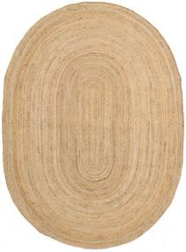 Frida Oval - Prirodni Sag 140X200 Autentični Moderni Ručno Tkani Tamna Bež/Bež ( Indija)