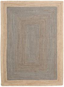 Vanjski Tepih Frida Frame - Siva/Prirodni Sag 140X200 Autentični Moderni Ručno Tkani Svjetlosiva/Bež (Juteni Tepisi Indija)