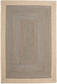 Vanjski Tepih Frida Frame - Siva/Prirodni Sag 200X300 Autentični Moderni Ručno Tkani Svjetlosiva/Bež (Juteni Tepisi Indija)