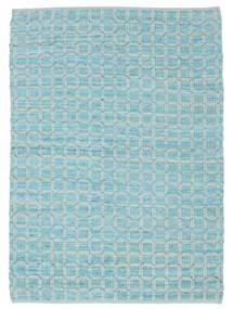 Elna - Bright_Blue Sag 140X200 Autentični Moderni Ručno Tkani Svjetloplava/Tirkizno Plava (Pamuk, Indija)