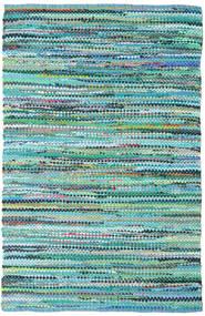 Ronja - Zelena Mix Sag 140X200 Autentični  Moderni Ručno Tkani Tirkizno Plava/Svjetloplava (Pamuk, Indija)
