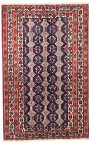 Beluch Patine Sag 132X206 Autentični Orijentalni Ručno Uzlan Tamnoljubičasta/Bež (Vuna, Perzija/Iran)