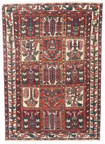 Bakhtiari Patine Sag 110X152 Autentični Orijentalni Ručno Uzlan Tamnocrvena/Tamnosmeđa (Vuna, Perzija/Iran)