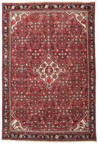 Hamadan Patine Sag 135X202 Autentični Orijentalni Ručno Uzlan Tamnosmeđa/Grimizno Crvena (Vuna, Perzija/Iran)