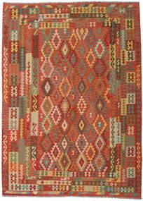Ćilim Afghan Old Style Sag 249X344 Autentični Orijentalni Ručno Tkani Narančasta/Tamna Bež (Vuna, Afganistan)