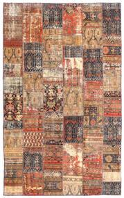 Patchwork - Persien/Iran Sag 191X312 Autentični Moderni Ručno Uzlan Tamnocrvena/Smeđa (Vuna, Perzija/Iran)