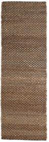 Vanjski Tepih Siri Jute - Prirodni/Crna Sag 80X250 Autentični  Moderni Ručno Tkani Staza Za Hodnik  Smeđa/Tamnosmeđa (Juteni Tepisi Indija)