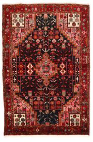 Hamadan Sag 134X199 Autentični  Orijentalni Ručno Uzlan Tamnosmeđa/Tamnocrvena (Vuna, Perzija/Iran)