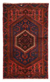 Zanjan Sag 128X214 Autentični Orijentalni Ručno Uzlan Tamnocrvena/Tamnosmeđa (Vuna, Perzija/Iran)