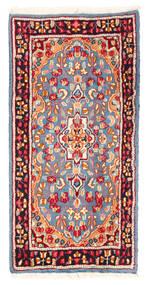 Kerman Sag 59X119 Autentični  Orijentalni Ručno Uzlan Svjetloplava/Bež (Vuna, Perzija/Iran)