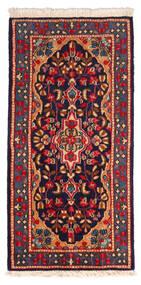 Kerman Sag 60X122 Autentični  Orijentalni Ručno Uzlan Crna/Tamnocrvena (Vuna, Perzija/Iran)