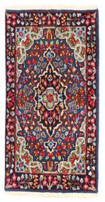 Kerman Sag 57X114 Autentični  Orijentalni Ručno Uzlan Tamnoljubičasta/Tamnocrvena (Vuna, Perzija/Iran)