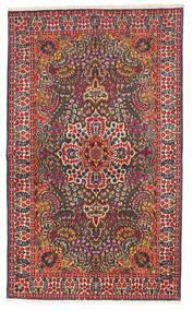 Kerman Sag 147X245 Autentični  Orijentalni Ručno Uzlan Crna/Hrđavo Crvena (Vuna, Perzija/Iran)