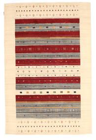 Loribaf Loom Sag 157X241 Autentični  Moderni Ručno Uzlan Tamna Bež/Bež/Tamnocrvena (Vuna, Indija)