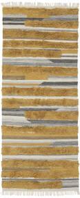 Sunny - Yellow Sag 100X250 Autentični  Moderni Ručno Tkani Staza Za Hodnik  Smeđa/Tamnosmeđa (Vuna, Indija)