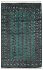 Pakistan Bokhara 2Ply Sag 164X255 Autentični  Orijentalni Ručno Uzlan Crna/Tamna Tirkizna   (Vuna, Pakistan)
